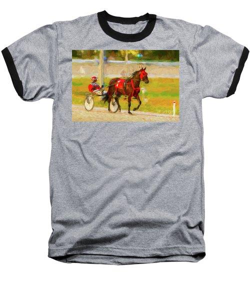 Horse, Harness And Jockey Baseball T-Shirt
