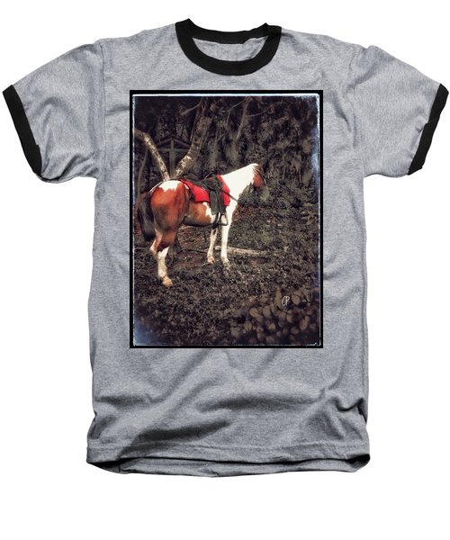 Horse In Red Baseball T-Shirt