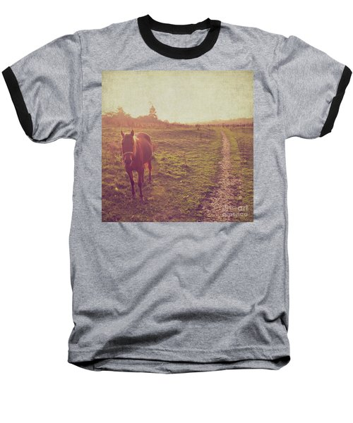 Baseball T-Shirt featuring the photograph Horse by Lyn Randle