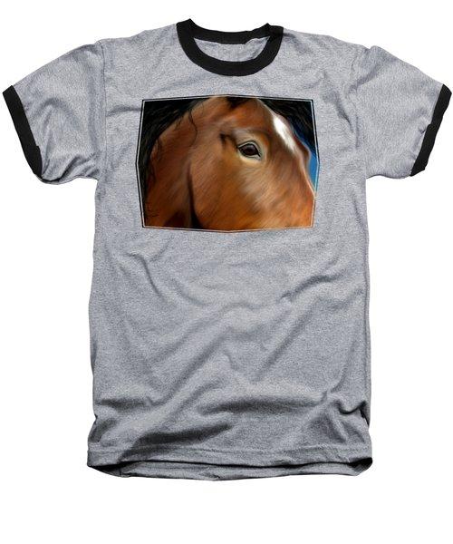 Horse Portrait Close Up Baseball T-Shirt