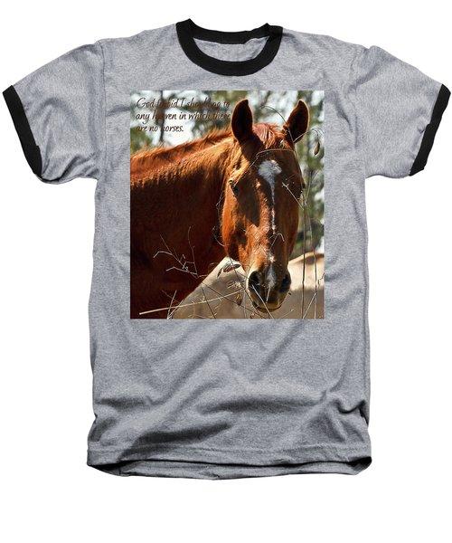 Horse Portrait Baseball T-Shirt