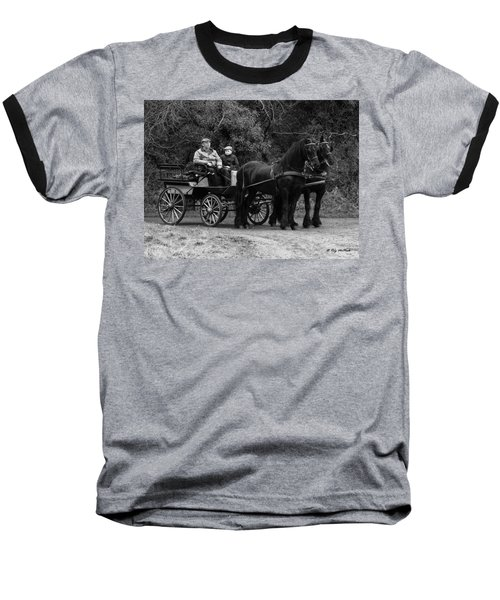 Horse Power Baseball T-Shirt by Roy McPeak