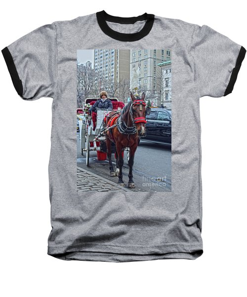 Baseball T-Shirt featuring the photograph Horse Power by Sandy Moulder