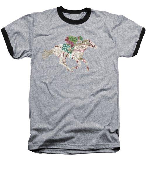Horse Racer Baseball T-Shirt