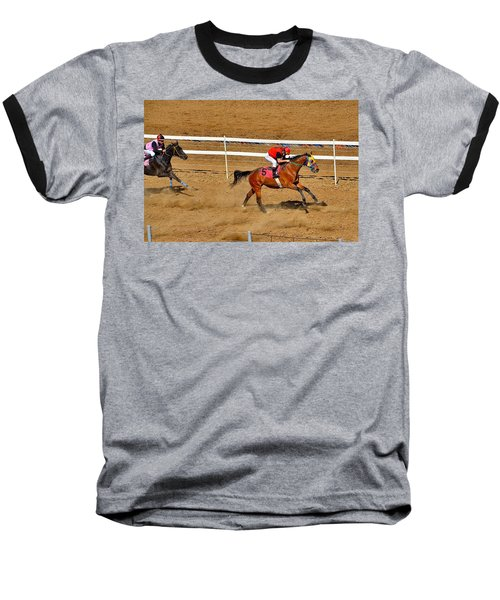 Horse Racing Baseball T-Shirt