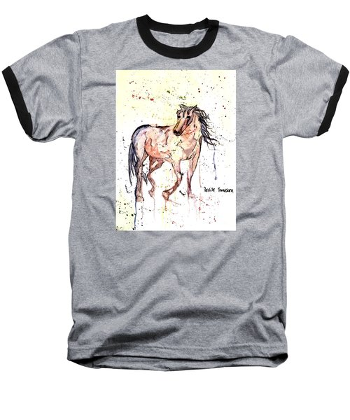 Baseball T-Shirt featuring the painting Horse Seekers by Denise Tomasura