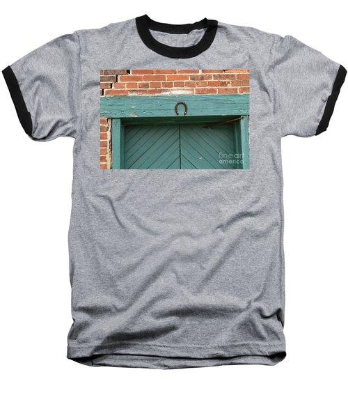 Horse Shoe On Old Door Frame Baseball T-Shirt