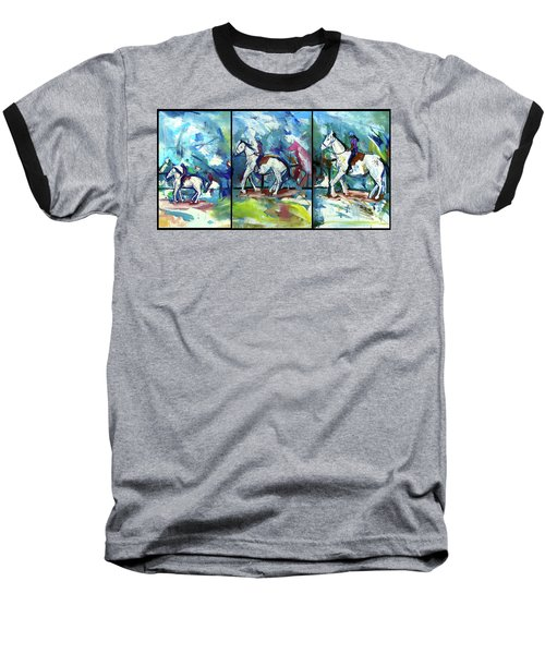 Horse Three Baseball T-Shirt