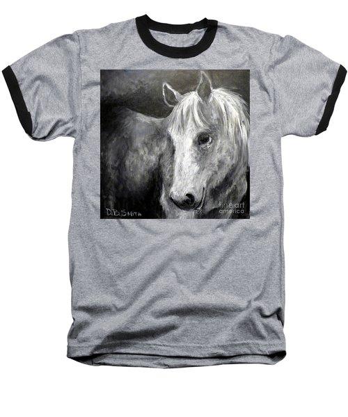 Horse With The Mona Lisa Smile Baseball T-Shirt