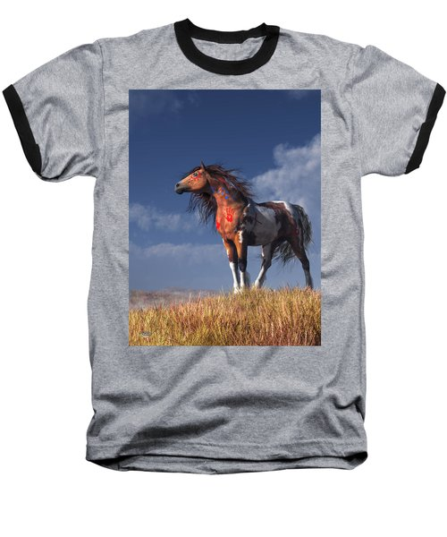 Horse With War Paint Baseball T-Shirt