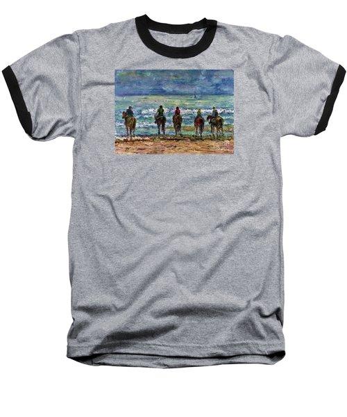 Horseback Beach Memories Baseball T-Shirt