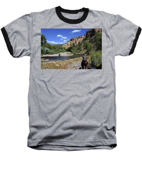 Horseback In The Gila Wilderness Baseball T-Shirt