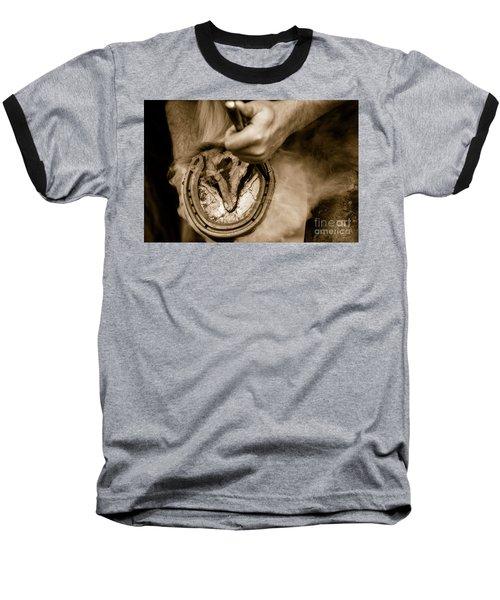 Horsehoe Fitting Baseball T-Shirt