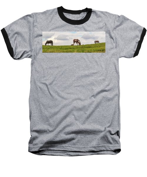 Horses And Clouds Baseball T-Shirt