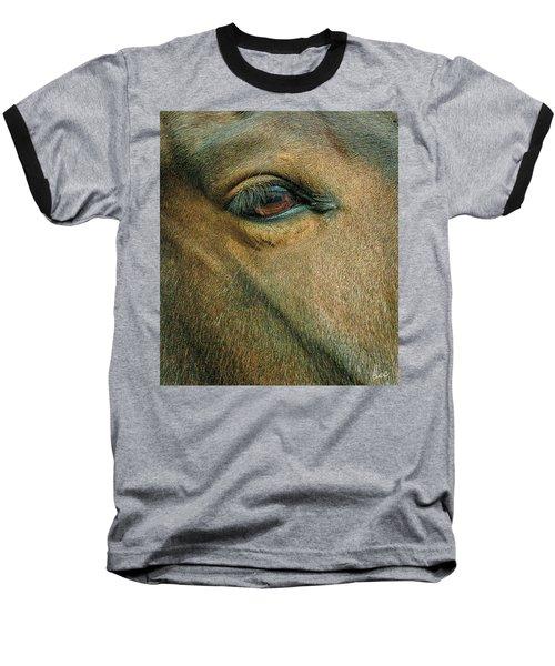 Horses Eye Baseball T-Shirt by Bruce Carpenter