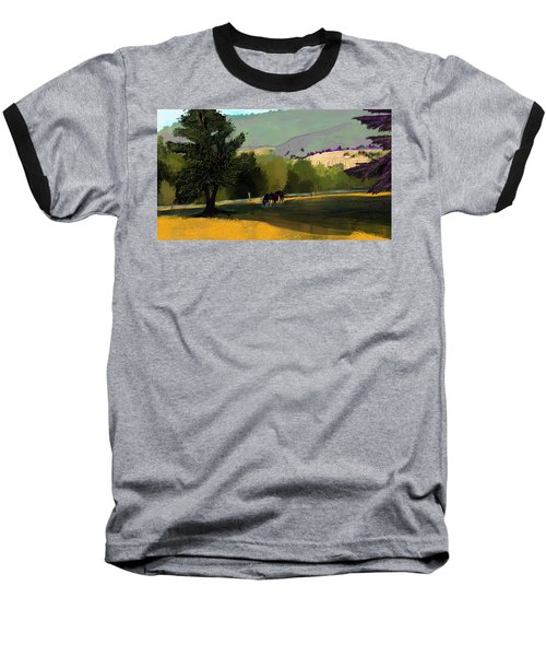 Horses In Field Baseball T-Shirt