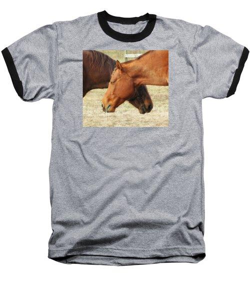 Horses In Sinc Baseball T-Shirt by MTBobbins Photography