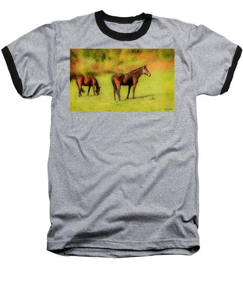 Horses In The Pasture Baseball T-Shirt