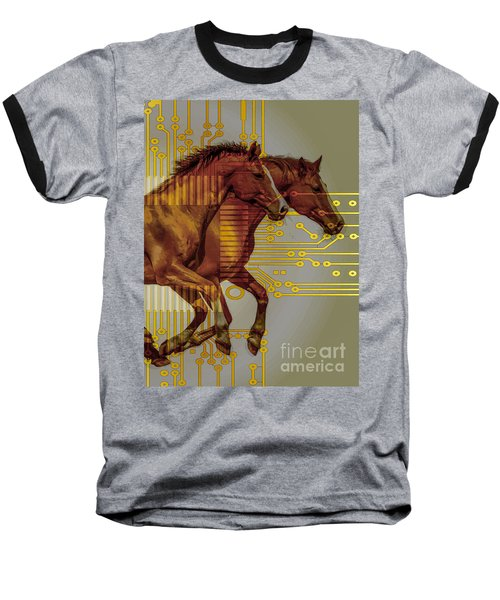 The Sound Of The Horses. Baseball T-Shirt