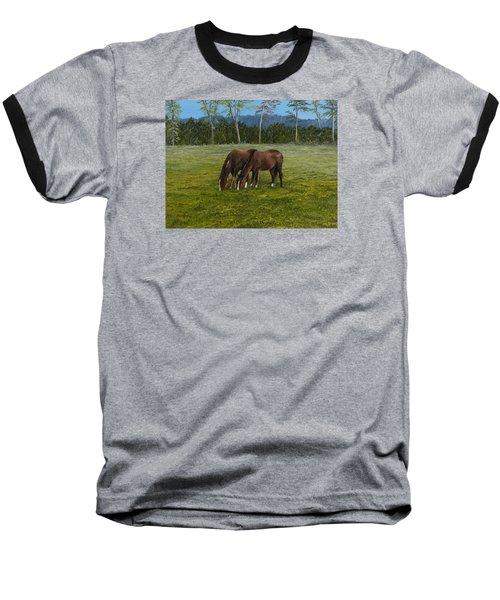 Horses Of Romance Baseball T-Shirt