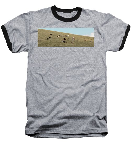 Horses On The Hill Baseball T-Shirt