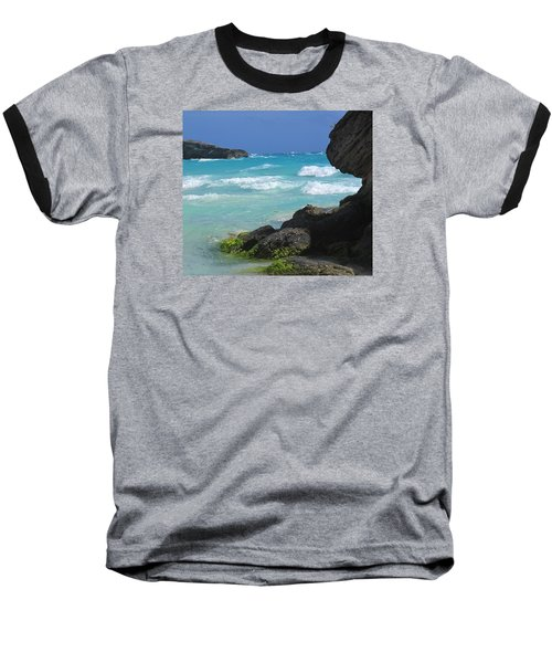 Horseshoe Bay Rocks Baseball T-Shirt by Ian  MacDonald