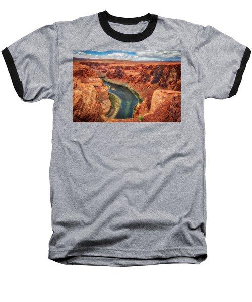 Baseball T-Shirt featuring the photograph Horseshoe Bend Arizona - Colorado River #2 by Jennifer Rondinelli Reilly - Fine Art Photography