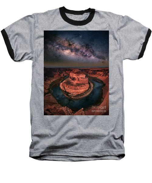 Horseshoe Bend With Milkyway Baseball T-Shirt