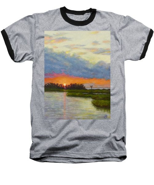 Horseshoe Cove Sunset Baseball T-Shirt