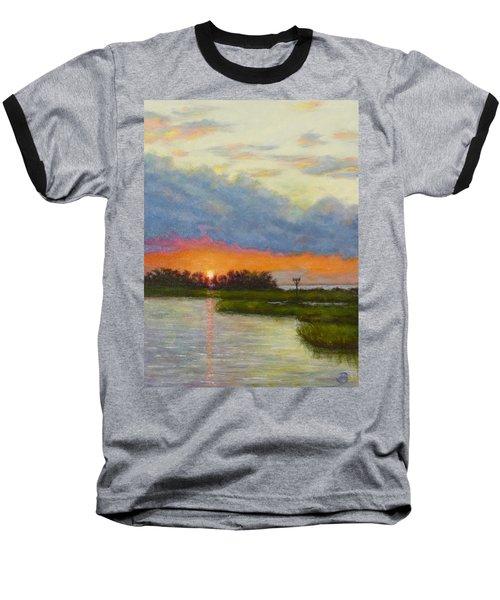 Horseshoe Cove Sunset Baseball T-Shirt