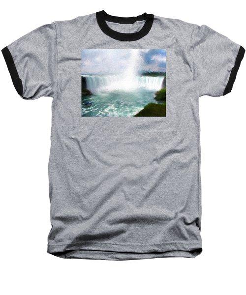 Baseball T-Shirt featuring the photograph Horseshoe Falls - Niagara Falls by John Freidenberg