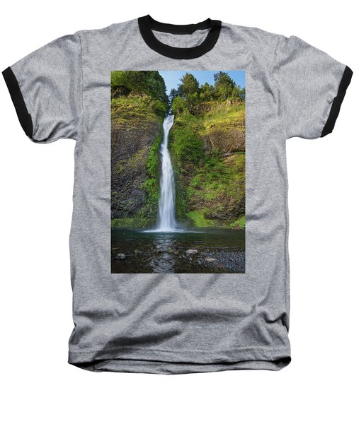 Horsetail Falls In Spring Baseball T-Shirt by Greg Nyquist