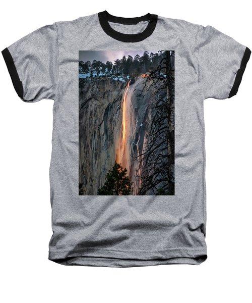 Horsetail Waterfall Glow 2017-2-24 Baseball T-Shirt