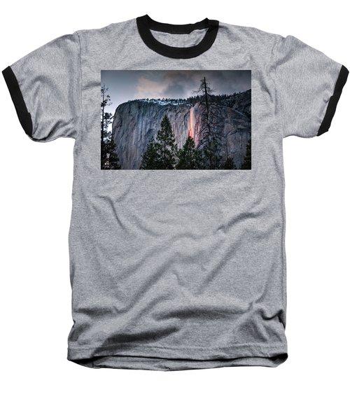 Horsetail Waterfall Glow 2017 Baseball T-Shirt