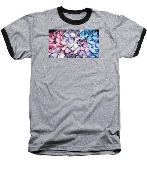 Hortensias Baseball T-Shirt by Natalia Tejera