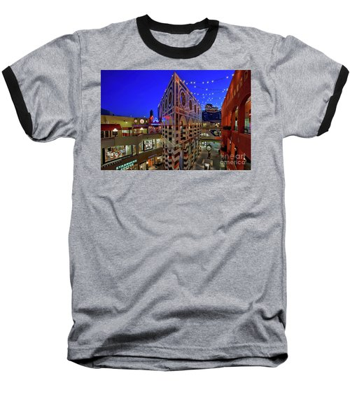 Horton Plaza Shopping Center Baseball T-Shirt by Sam Antonio Photography