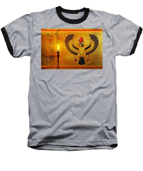 Horus Falcon God Baseball T-Shirt