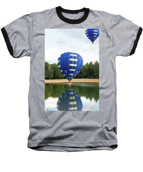Hot Air Balloon Baseball T-Shirt by Hans Engbers