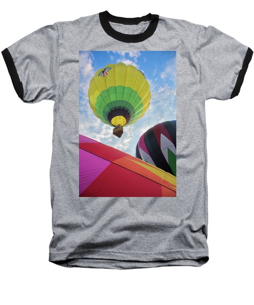 Hot Air Balloon Takeoff Baseball T-Shirt