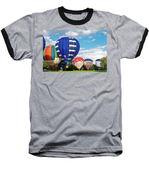 Hot Air Balloons Baseball T-Shirt by Hans Engbers