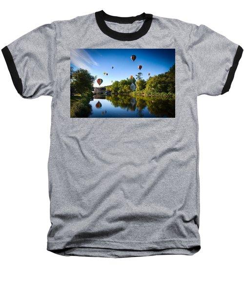 Hot Air Balloons In Queechee 2015 Baseball T-Shirt by Jeff Folger