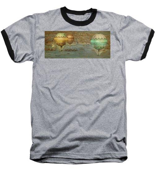 Baseball T-Shirt featuring the digital art Hot Air Baloons Over Venus by Jeff Burgess