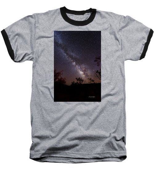 Hot August Night Under The Milky Way Baseball T-Shirt