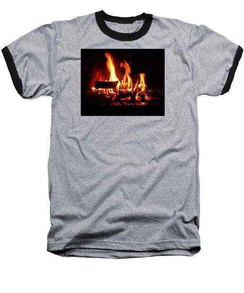 Baseball T-Shirt featuring the photograph Hot Coals by Steve Godleski