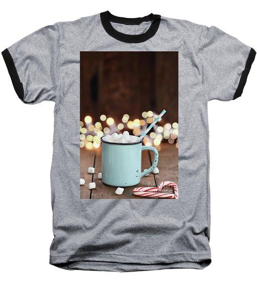 Hot Cocoa With Mini Marshmallows Baseball T-Shirt by Stephanie Frey