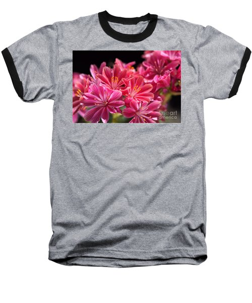 Hot Glowing Pink Delight Of Flowers Baseball T-Shirt