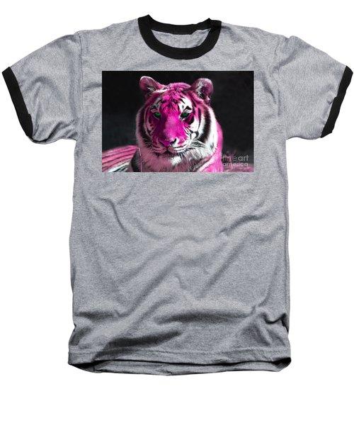 Hot Pink Tiger Baseball T-Shirt