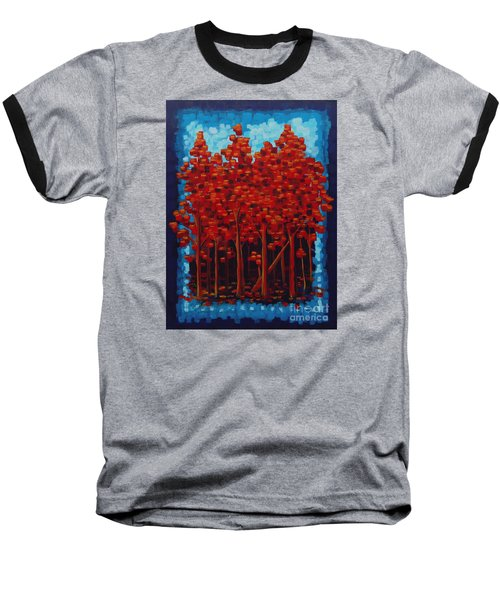 Baseball T-Shirt featuring the painting Hot Reds by Holly Carmichael