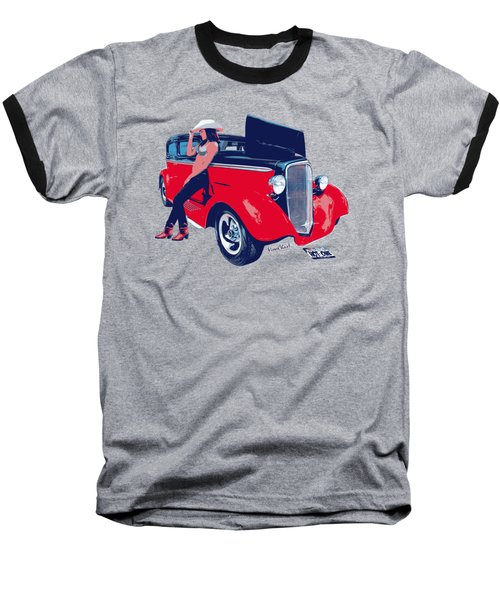 Hot Rod Hot One Baseball T-Shirt