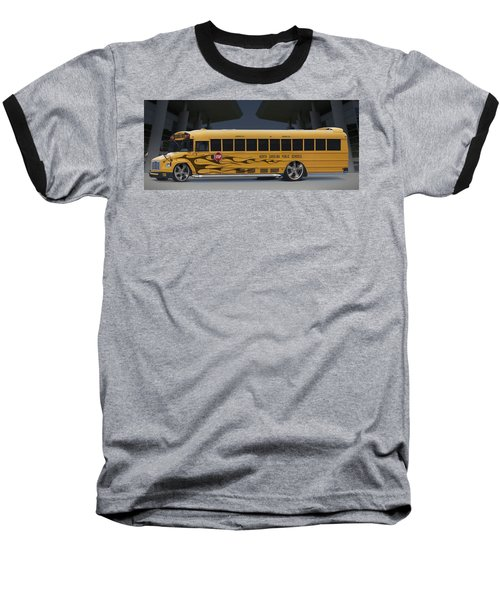 Hot Rod School Bus Baseball T-Shirt